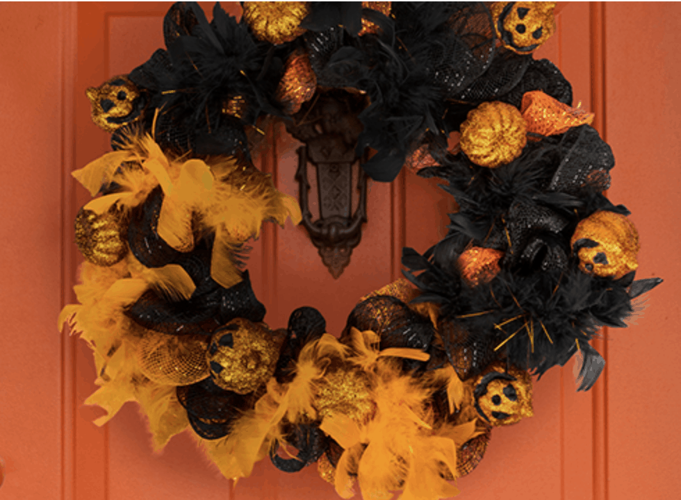 Affordable Halloween Decorations Wreaths 00003
