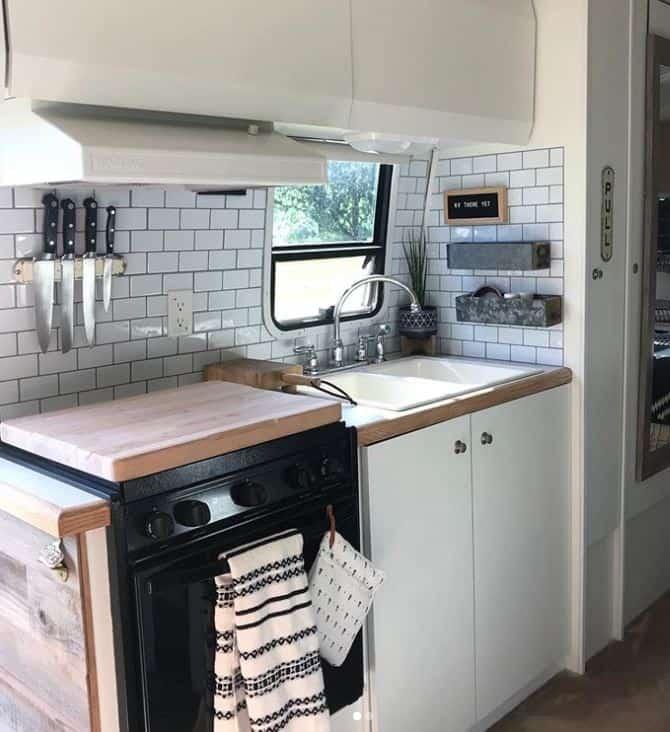 Airstream Renovation Kitchen