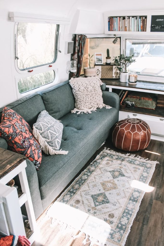 Airstream renovations augustine the airstream couch