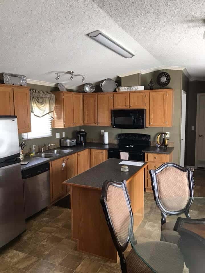 Alabama single wide kitchen