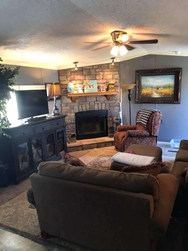 Alabama Single Wide Living Room