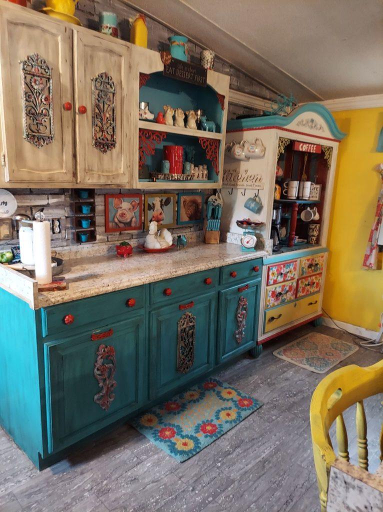 Artists kitchen shelving