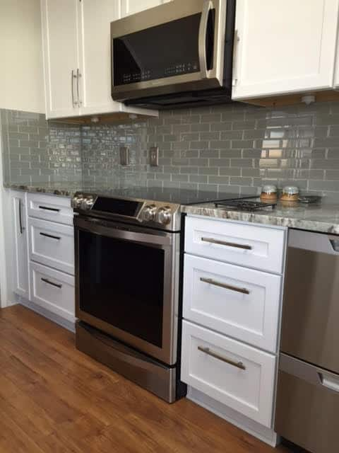 Backsplash And Kitchen After Remodel In 1991 Fleetwood Triple Wide