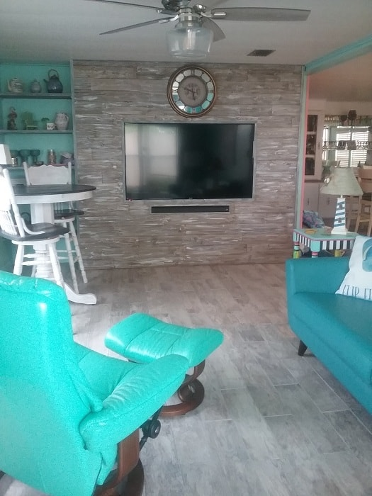 Beach Themed Living Room After Remodel