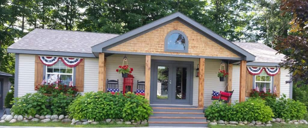 Beautiful exterior on mobile home richie maureen wright