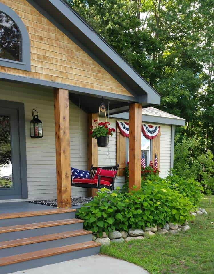 Beautiful Mobile Home Exterior Americana Richie Maureen Wright‎