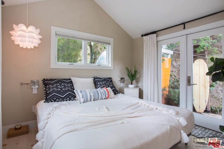 Bedroom remodeled double wide at 6 paradise cove rd, malibu, ca for 1. 4 million copy
