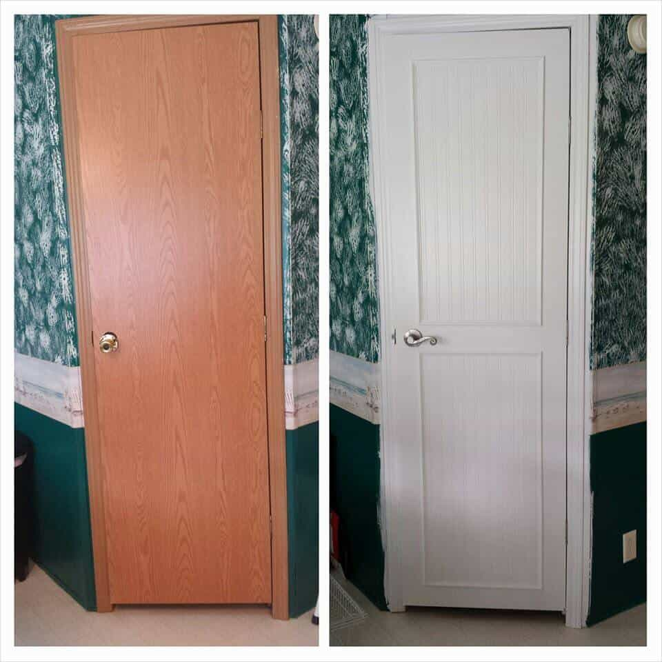 Mobile Home Interior Door Makeover | Mobile Home Living on mobile home cabinets, mobile home windows, mobile home closets, mobile home 6 panel door, mobile home appliances, mobile home exterior,