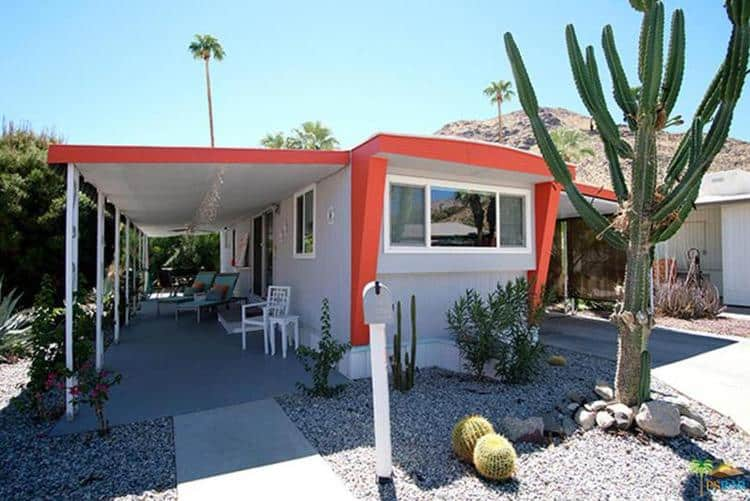Vintage mobile home with cool paint and awnings