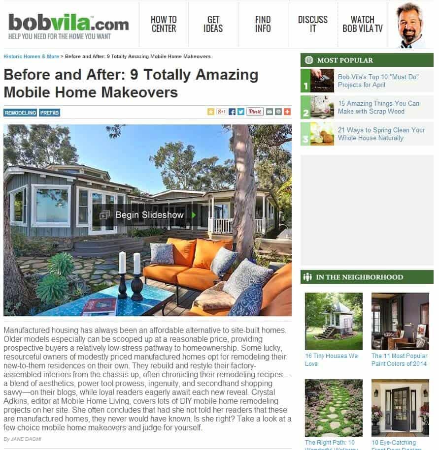 mobile home living featured on bob villa website