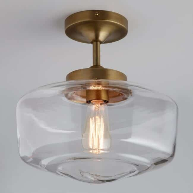 brass light with dome