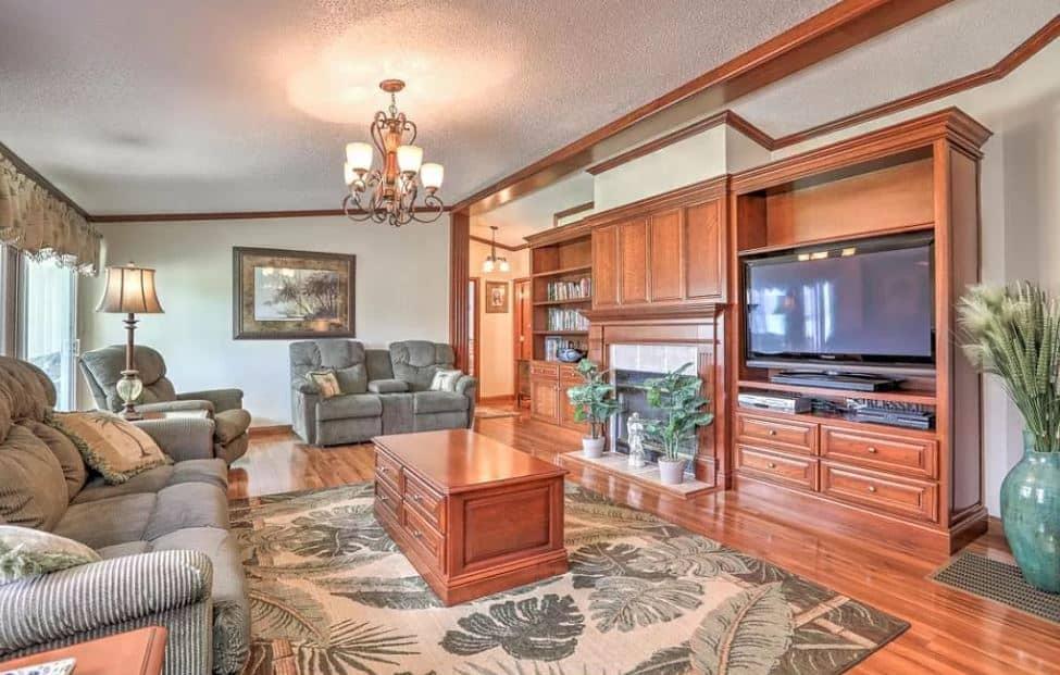 Brick beauty living room
