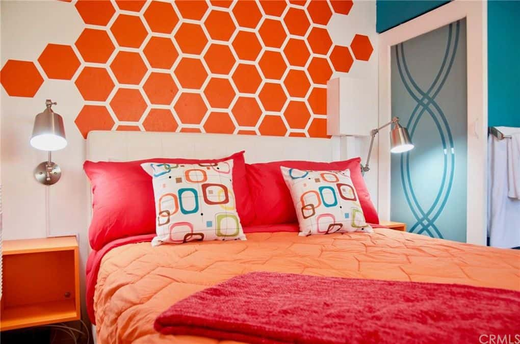 Bright and bold bedroom