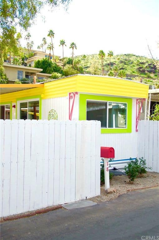 Brightly Painted Exterior Of Single Wide
