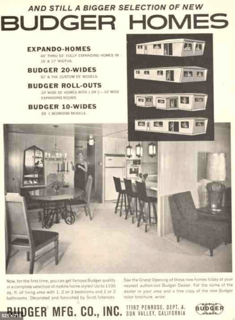Budger homes ad