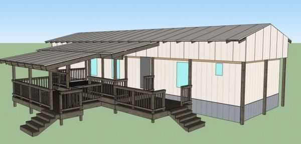 The Best Self-Supported Mobile Home Roof Over Designs 3