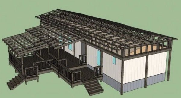 The Best Self-Supported Mobile Home Roof Over Designs 2