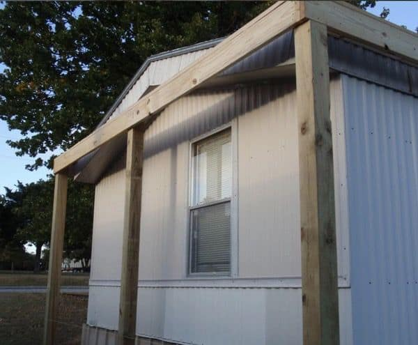 The Best Self-Supported Mobile Home Roof Over Designs 6