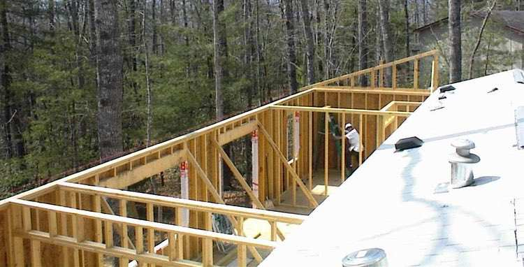 Building Single Wide Addition Framing