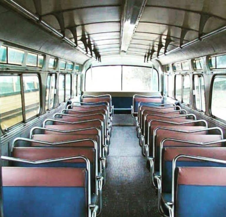 Bus conversion interior before