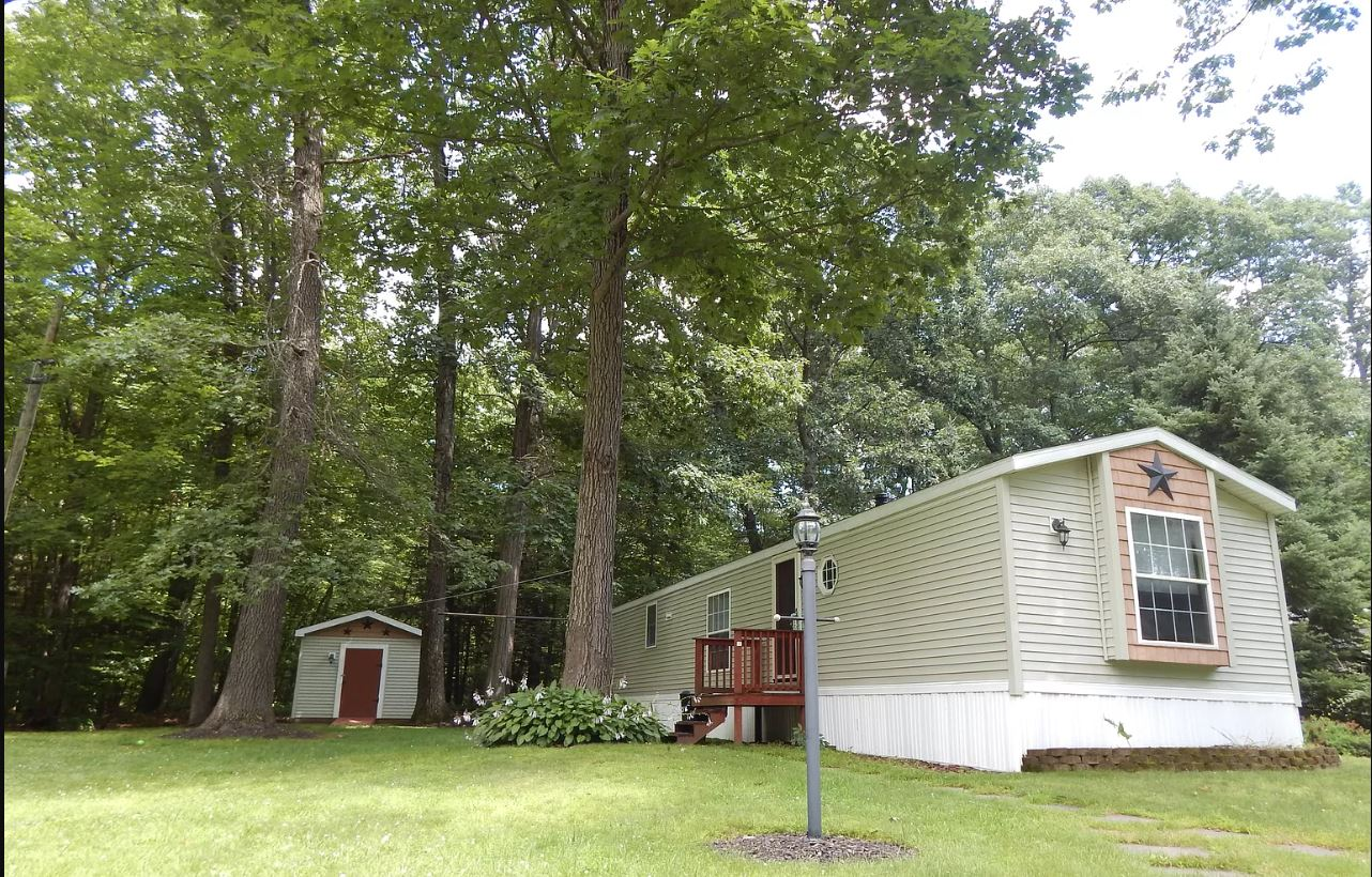 Buying A Mobile Home In New York Single Wide With Trees