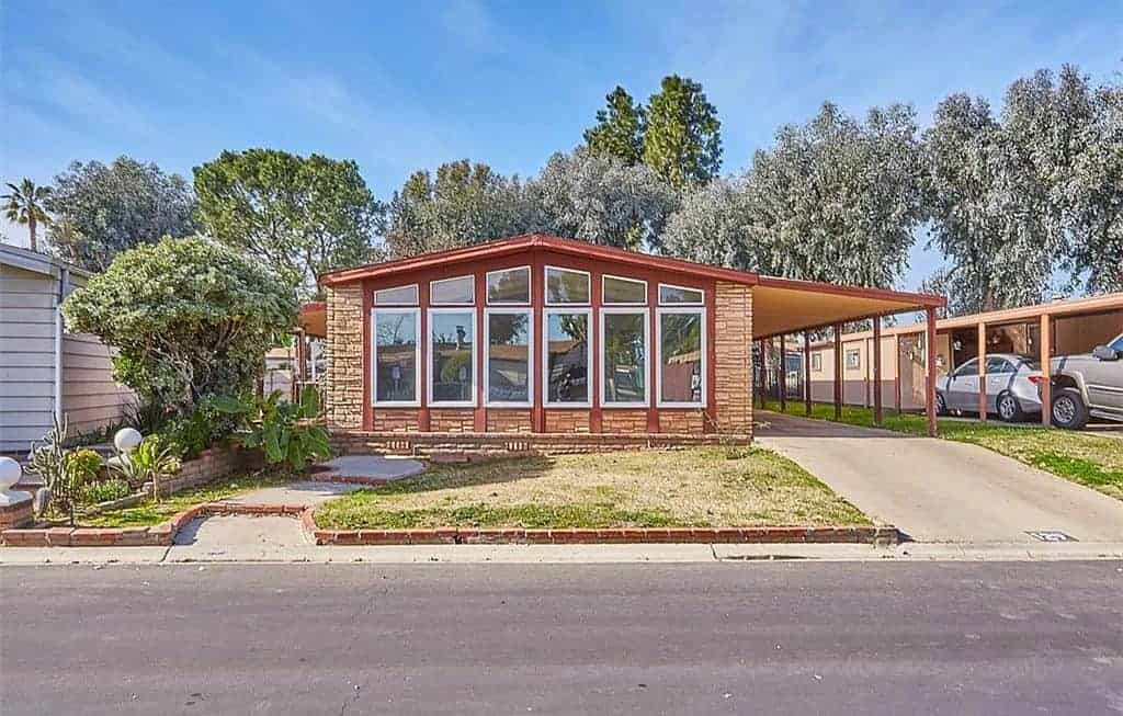 California Double Wide With Windows and matching awning