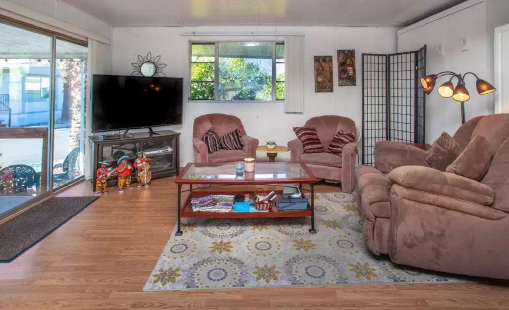 California mobile home interior