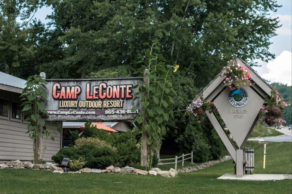 Camp leconte sign