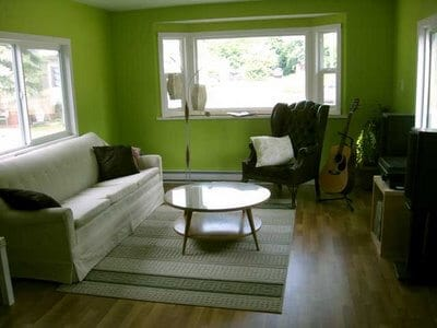 Canadian Single Wide Living Room