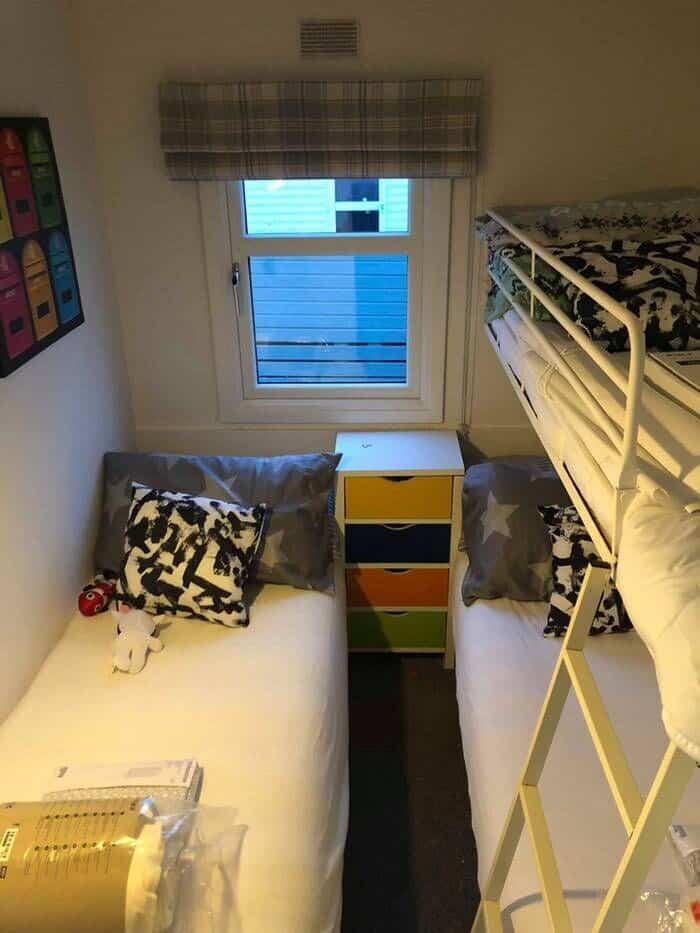 Caravan Bedroom Bunk Beds After