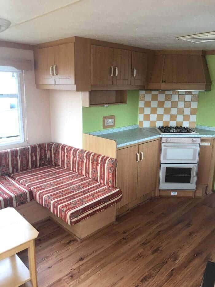 renovated caravan Kitchen Before New Update