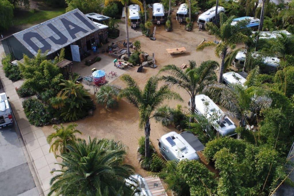 Caravan outpost setup