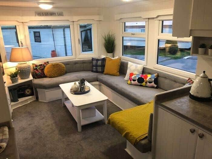 Caravan Reupholstered Sitting Area