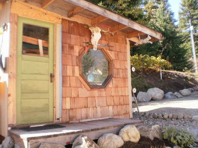 cedar siding on shed