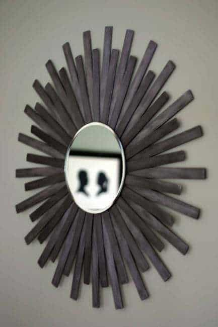 Cheap Wall Art Ideas Starburst Mirror From Paint Sticks 1