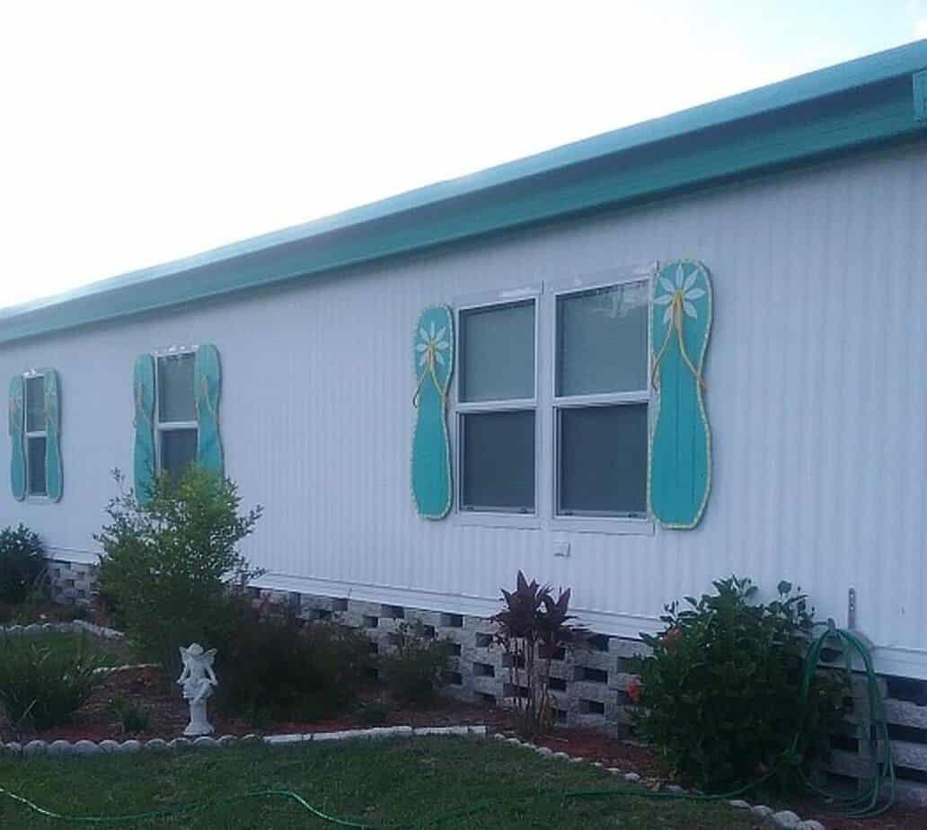 Colorful Coastal Mobile Home