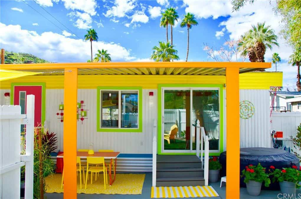 Colorful Exterior Of Single Wide