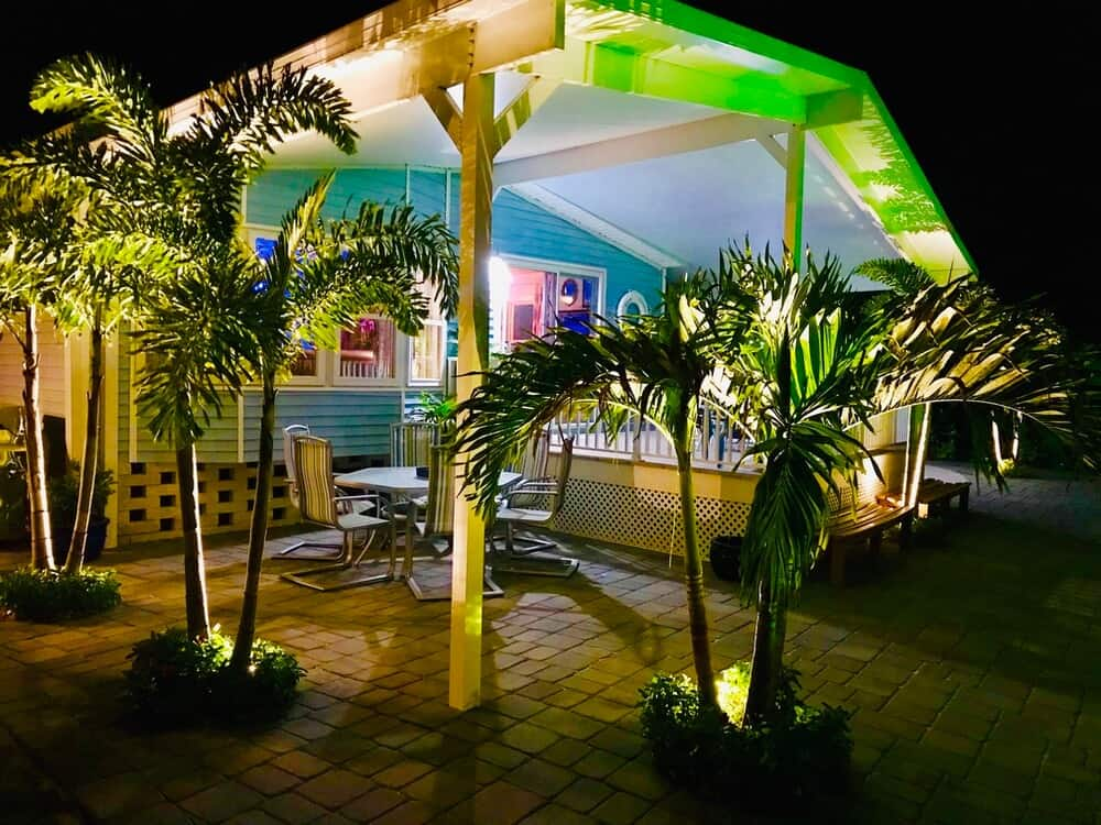 Colorful Landscape Lighting On Beach Double Wide