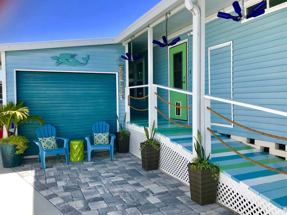 Colorful Ramp To Mobile Home
