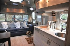 Contemporary Kitchen In An Airstream