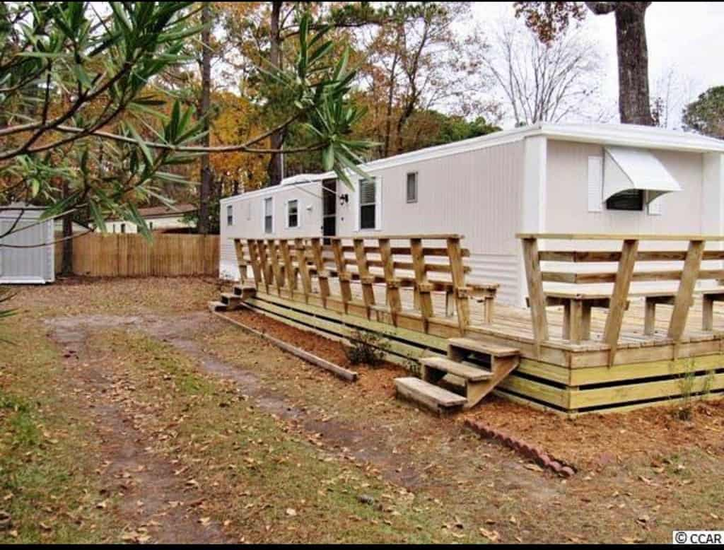 Cool Deck On Single Wide Mobile Home
