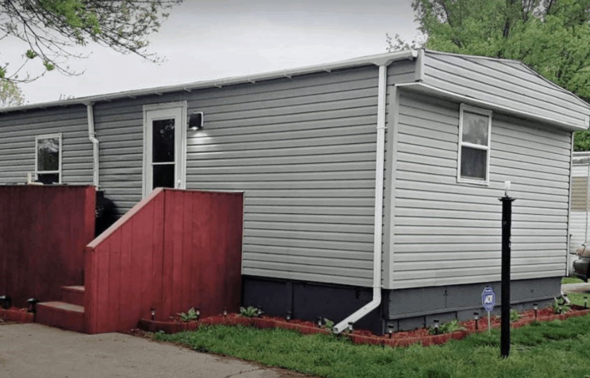 Cool Front Steps On Single Wide Mobile Home