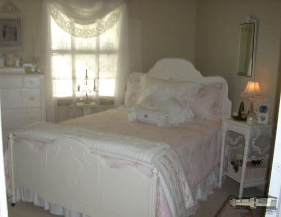 Cottage Style Bedroom In 1979 Charming Cottage Style Manufactured Home