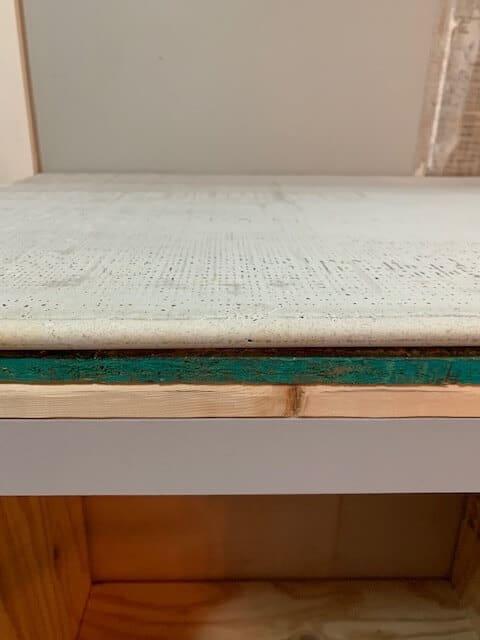 Countertop before adding finish