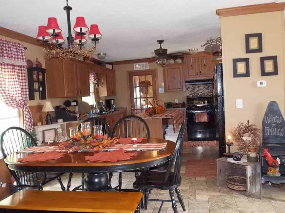 Country Decor In A Manufactured Home 6
