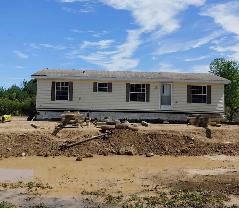 Country mobile home foundation