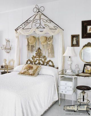 Cozy Bedroom In Shabby Chic Farmhouse Double Wide