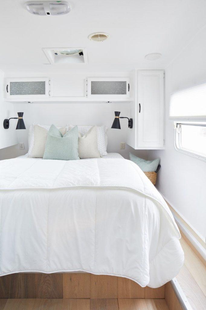 Crisp and clean bedroom
