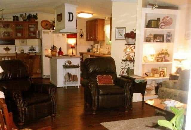 Davis Single Wide Living Room