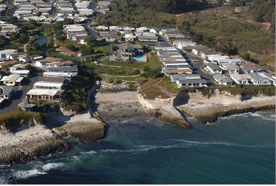 De anza santa cruz aerial view